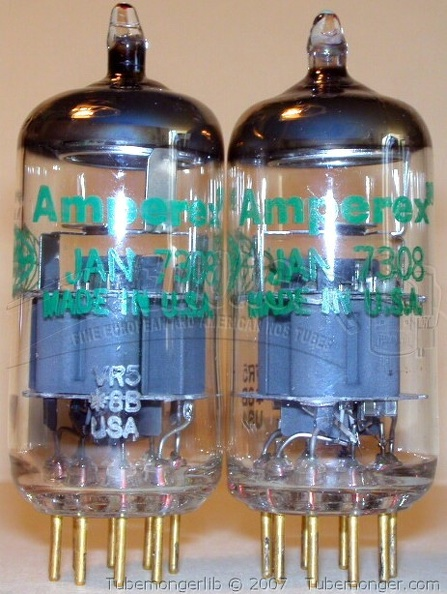 Amperex Philips 7308 1968 Halo Getter Green Globe Label - USA.jpg