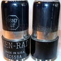 Ken-Rad 1940s  6SN7GT Black Glass 2 - USA