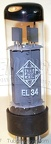 RFT EL34 Telefunken Label - East Germany