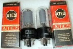 ATES 6V6GT RCA License Gray Plates Clear Glass 4- ITALY