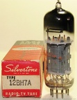 Sylvania 12BH7A - 1960s Square Getter Silvertone Label - USA