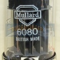 Mullard CV2984 6080 6AS7 - 1960 Military Dual Halo Getter with Black Mica Supports Black Plates -Dual CV and Old Shield Logo - Mitcham Plant - Gt. Britain