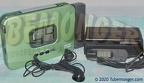 PAN-RQ-SX50-G -Like NEW  Early 1990s Model Panasonic Portable Cassette Player RQ-SX50 - Green Color - Made in JAPAN - Reconditioned - DOLBY